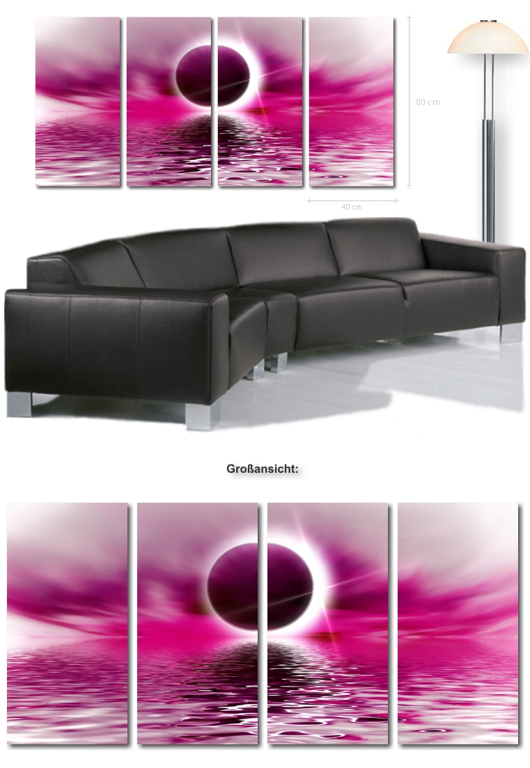Sonnenfinsternis auf leinwand ultra moderne leinwandbilder kunstdrucke wandmotive