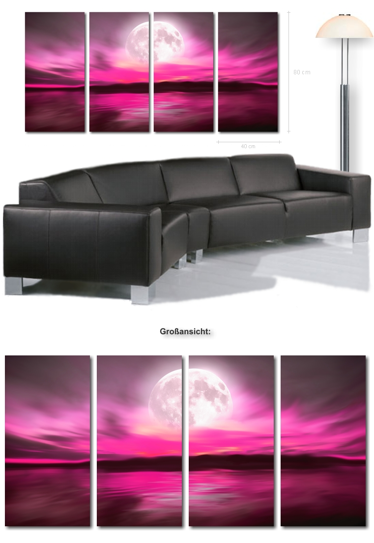 ultra moderne bilder xxl bild romantik kunstdruck auf leinwand kunstbilder leinwandbilder modern. Black Bedroom Furniture Sets. Home Design Ideas