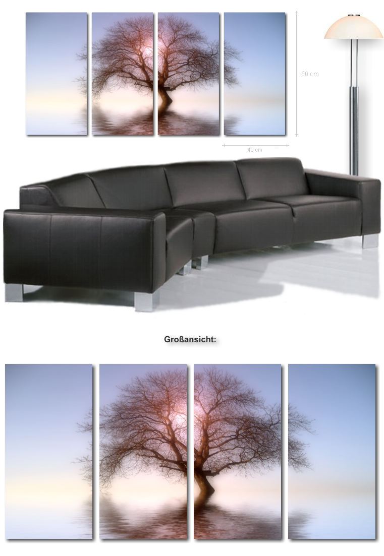 ultra moderne bilder xxl bild baum kunstdruck auf leinwand kunstbilder leinwandbilder modern. Black Bedroom Furniture Sets. Home Design Ideas