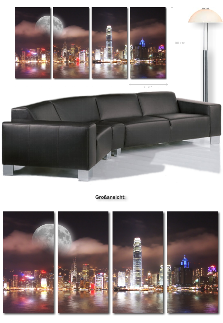 xxl kunstbilder kunstdrucke 160x80 cm moderne bilder auf leinwand inkl keilrahmen. Black Bedroom Furniture Sets. Home Design Ideas