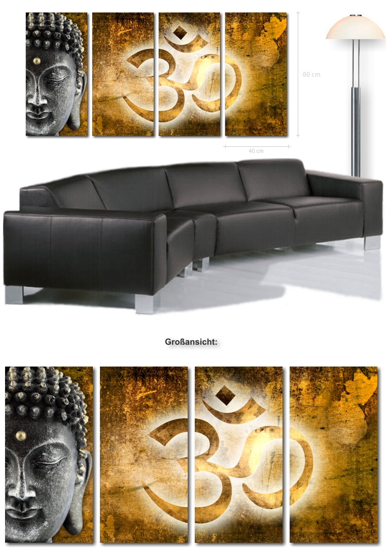 wandbild buddha kaufen moderne xxl wandbilder buddha auf leinwand kunstdrucke online bestellen. Black Bedroom Furniture Sets. Home Design Ideas